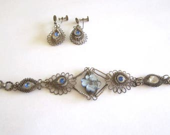 1920s Matching Necklace - Bracelet - Earrings Set