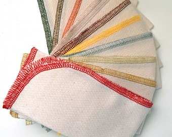 SECONDS.......1 Ply Paperless Towels set of 10 in Unbleached Cotton Birdseye Fabric