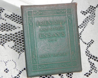 Antique Little Leather Library Book~Friendship and Other Essays~Henry Thoreau