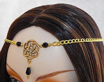 CELTIC Circlet, Gold Circlet, Celtic Crown, Celtic Wedding Tiara bridal gold crown Renaissance Circlet Gold Wedding Veil gold wedding tiara