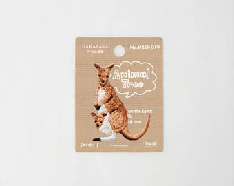 Animals wappen kangaroo Iron on Embroidery Patch Applique from Japan H441-019