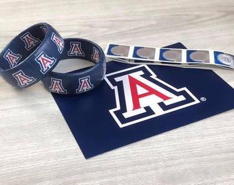 Arizona Wildcat Bracelet - Bear Down Jewelry - Graduation Gift - College Bracelet - Arizona Wildcats - Officially Licensed Jewelry