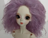 """Purple lavender size 8-9"""" BJD wig Tibetan lambswool for SD ball jointed dolls"""