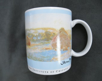 Vintage Monet Haystacks Mug, Art Institute of Chicago, Copco 1993