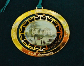 Vintage 90s White House Historical Association Anniversary Christmas Ornament Collectible