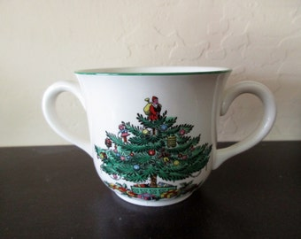 vintage Spode Christmas two handled cup - Made in England