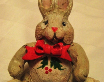 House of Haddon Christmas Bunny- final sale