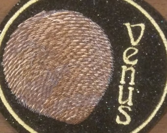Planet Venus embroidered Iron on patch