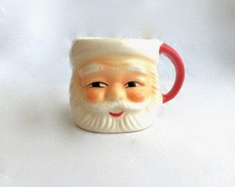 Vintage Ceramic Santa Mug, Japan made