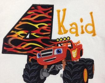 Monster Truck Shirt, Blaze