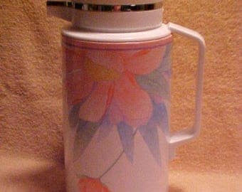 Thermique Corelle Crown Corning Peony Pink Peach Blossom Thermal Coffee Carafe