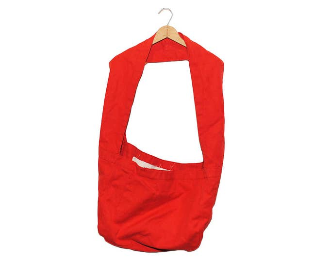 QMC Wide Strap Canvas News Paper Bag - Red