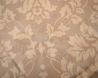Tan Damask Fabric REMNANT 54 inches x 2.25 yards