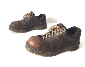 vintage nirvana y2k DOC marten's mens size 10 brown leather lace up RUSTIC vintage nirvana boots