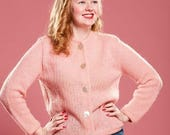 HALF PRICE SALE Vintage 1960s Pink Mohair Sweater - Cotton Candy Pastel - Winter Fashions
