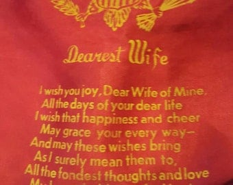 Silk Dearest Wife Army Pillow Case