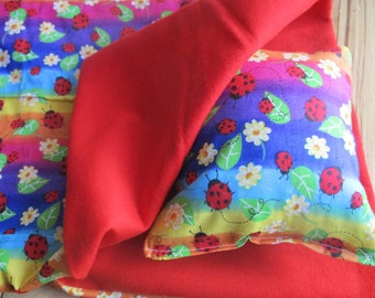 18 Inch Doll Bedding, rainbow ladybug sleeping bag for 18 inch dolls