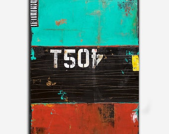 Industrial Abstract Painting by Erin Ashley 30x40 canvas art