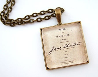 Jane Austen Necklace, Literary Necklace, Book Lover Gift, Literary Jewellery, Pride And Prejudice Necklace, Literary Gift, Mothers Day Gift