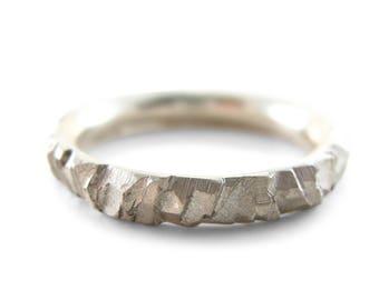 Meteorite wedding ring | mens commitment ring | man wedding band meteor | wedding bands men| recycled gold | rustic ring | mens wedding ring