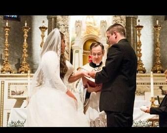 Bridal Bolero Shrug, Wedding Cover Up, Lace Shrug Bolero, Matching Lining, Stretch Lace in Black, White or Ivory, 3/4 sleeves