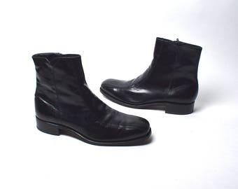 Florsheim Black Leather Chelsea Boots, Men's Size 11 D
