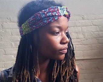 Twist Headband, Independence Day, Knotted Headband, Turban Headwrap, Womens Headband, Adult Headband, Gift for Her, for Girls