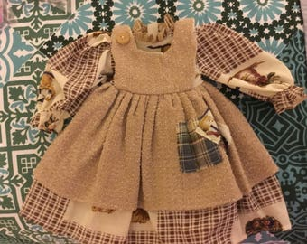 Doll dress for a size 14 to 16 in. Doll