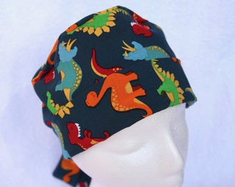 Scrub Hat for Pediatric - Surgical Hat - Dinosaurs