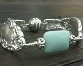 Stunning Spoon Bracelet From 1953 With Amazonite