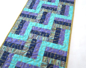 Quilted Table Runner, Handmade Table Runner, Rail Fence Table Runner, Table Quilt, Tablerunner, Home Decor, Table Decor,