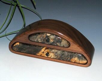 Buckeye Burl on Walnut Two Drawer Wood Jewelry Box - Wooden Jewelry Box, Small Jewelry Box, Burl Jewelry Box, Walnut Jewelry Box, Small Box