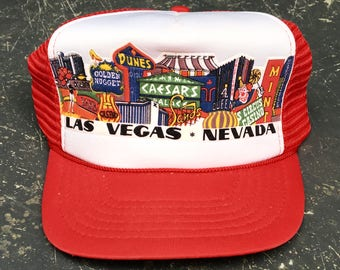 Vintage Las Vegas Trucker Hat