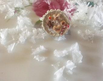 Cookies for Santa.Adjustable handmade ring