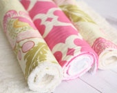 Chenille Burp Cloth Set - Floral - Baby Girl
