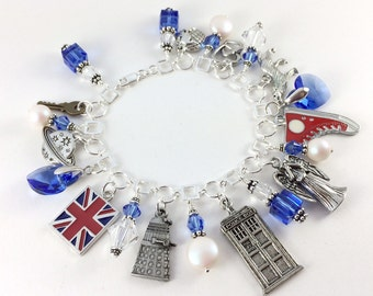 Sterling Silver Doctor Who Charm Bracelet