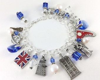 Sterling Silver Doctor Who Charm Bracelet