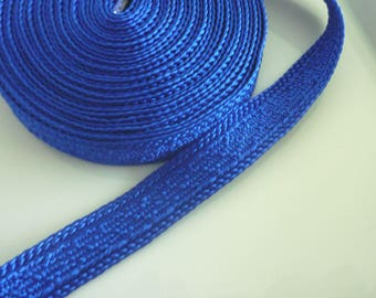 Art silk Moroccan trim, Moroccan blue , textured trim,  5 metres