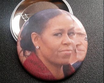 Michelle Obama side eye pin Feminist buttons pins badges pinback button feminists feminism smash the patriarchy sideeye