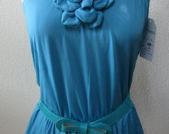 Turquoise Color with Three Layers Tube Dress plus made in USA (v77)