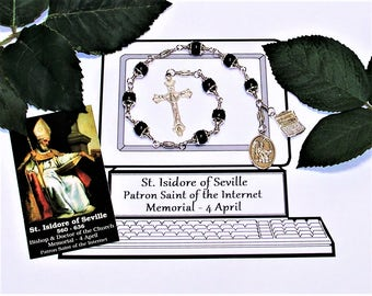 Unbreakable Catholic Chaplet of St. Isidore of Seville - Patron Saint of Computer Technicians / Operators, the Internet and Students