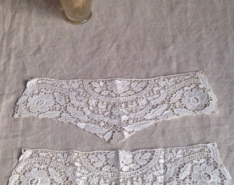 Antique Lace Sleeves. Schiffli Lace Cuffs, Off White Floral Pattern. Period Costume Design, Vintage Wedding  Something Old. Edwardian Bride