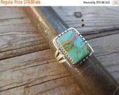 ON SALE Turquose ring handmade and signed in sterling silver by an American Indian