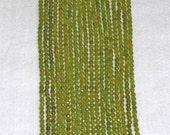 Jade, Peridot Jade, Jade Bead, Faceted Jade Bead, Strand, 4mm