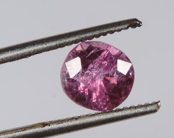 2.3 cts pink tourmaline faceted oval cut brazil