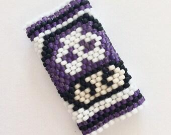 Poison Mushroom-  Custom Sized Peyote Stitch Dreadlock Beads - Insprired by Mario on Nintendo