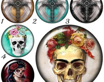 Sugar Skull mini snap charms fit Petite Ginger Snaps Jewelry. Work with other brands of 12 mm snap jewelry too