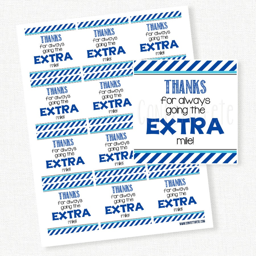 Refreshing image pertaining to thanks for going the extra mile printable