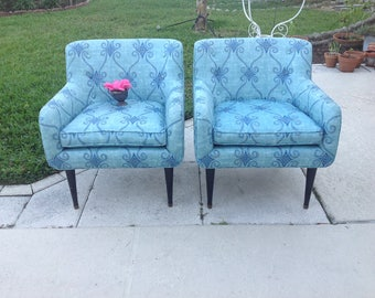MID CENTURY MODERN Club Chairs / McCobb Style Lounge Chairs from 1950s / Pair of Mad Man Style Chairs / Mid Century at Retro Daisy Girl