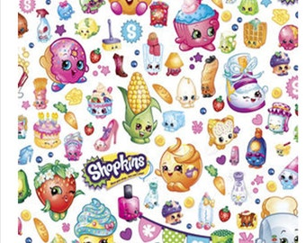 SHOPKINS FROZEN  PERSONALIZED Pillow Cases Embroidered Child's Name You choose names colors; child's pillowcase birthday christmas gift